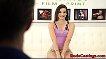 Real inked teen roughfucked at BDSM casting