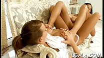 Hot and beautiful chicks are exposing and caressing tenderly video