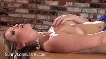 Sexy All Natural Sunny Lane Makes Herself Cum! Thumbnail