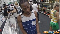 Black guy watch his latina GF getting fucked