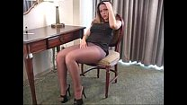 Courtney in Black Pantyhose video