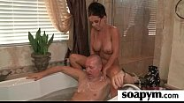 A very Hot Soapy Handjob 1