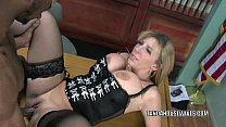 Mature slut Sara Jay is in her office and getting fucked thumbnail