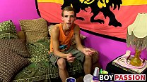 Cute twink Jordan has a hot solo session