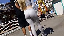 Sexy blonde Girl in Grey Tight Leggings - More at 999cams.xyz