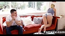 Creepy Brother Stalks And Fucks Step Sister| Famxxx.com
