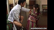 Asian lass is sucking on the dick tied up pornhub video
