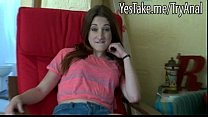Cute gf Casey Cummings tries out anal sex and cum facialed thumbnail