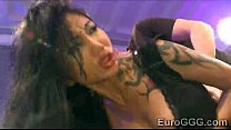 Tattooed Asian whore is disgraced in nasty gang bang thumbnail