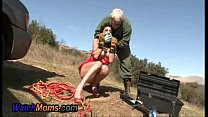 Hot Horny Brunette Gives Mechanic A Blowjob - XNXX.COM - download porn videos