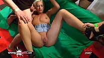 Sexy Blonde babe loves cum from big cocks - German Goo Girls