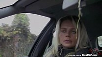 16144 Bitch STOP - Blonde Czech MILF fucked in car preview