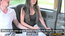 Horny lovers is having fun in the backseat of t...