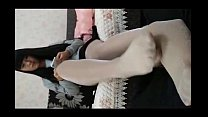 Japanese Girl Is Messaging While Giving Footjob