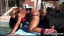 Horny ebony whore goes crazy sucking thumbnail
