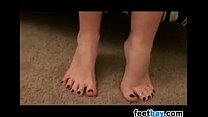 Sexy High Heels And Beautiful Soles Close Up thumbnail