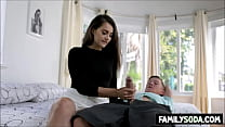 Sister helps with brothers erection