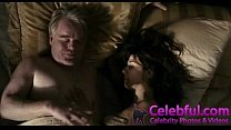 Marisa Tomei fucked from behind!! In bed with two guys showing her tits!! Thumbnail