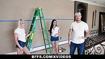 BFFS - Three Besties Suck Cock Instead Of Paying The Handyman صورة
