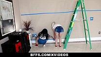 BFFS - Three Besties Suck Cock Instead Of Paying The Handyman thumbnail