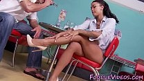 Ebony babes feet spunked pornhub video
