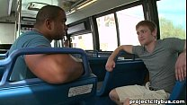 PROJECT CITY BUS - Interracial gay sex on a bus!
