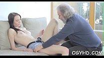 Nasty old crock fucks juvenile bawdy cleft pornhub video