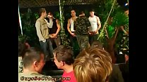 Males get naked for group medical and teen sex party video gay