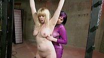 Lesbian Bondage Sex: Black and Blue BDSM pt. 2 thumbnail