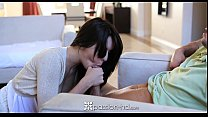 HD - Passion-HD Cute brunette Natalie gets fuck... Thumbnail