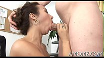 Sex addicted mamma in a sexy action