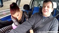 Real Czech Prostitute Takes Money for CAR SEX | big butt video thumbnail