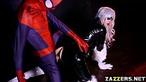 Spidey fucking The Black Cat so hard with his b...