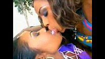 Two black chicks and one white girl go lesbian big tit threesome big ass interracial pussy eating le