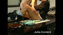 Red hair fucked in Office with boss Preview