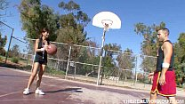Hot asian chick fucking her basketball coach