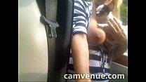 Blonde girl out in public masturbating her juicy wet slit