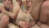 Sexy Gay Sex Threesome Bareback Hardcore And Massive Cumshot