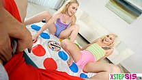 Twisted game with my stepsis and her hot blonde friend - nude fight thumbnail