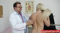Slim blonde Mia Hilton kinky vagina medical exam thumbnail