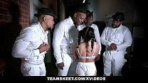 ExxxtraSmall - Petite Hottie Liv Revamped Fucked By Four Black Dudes's Thumb
