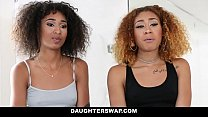 10466 DaughterSwap - Hot Ebony Teens Fucked For Disobeying Dad preview