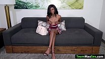 Teen ebony gets fucked while filming - 9Club.Top