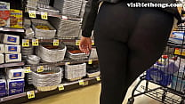 See-through leggings visible thong booty 25 Image