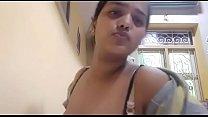 Sexy Indian Girl Boob pressing Selfie mms videos Thumbnail