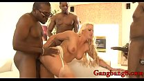 Curvy woman Holly Heart DP by black men