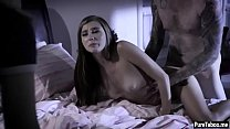 Stepsis and a friend enjoy in a threesome wtih a stepbro