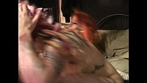 Tattooed cuties Scarlett Storm and Lotus at home squirting and cumming Vorschaubild