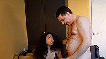10046 Luckyrose007: ballbusting Andrea Dipre and having sex with him preview