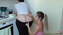 Two lesbians enjoying each others stinky arseholes